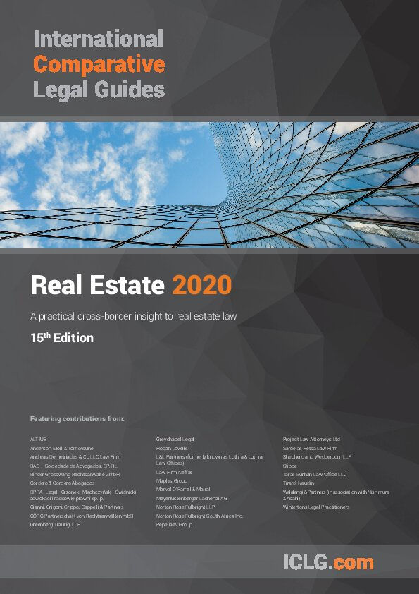 ICLG Real Estate 2020 Cover